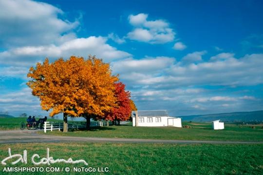 Bill Coleman Amish School Autumn