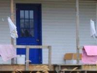 Front door on Swartzentruber home