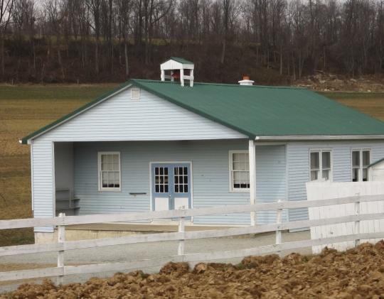 Blue Lancaster Amish School