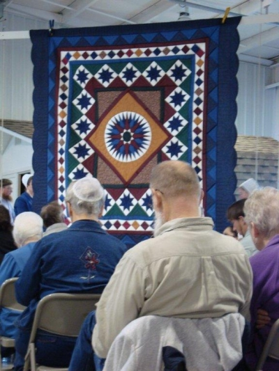 Blue Quilt Amish Auction
