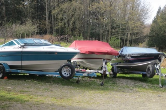 Boats Under Tarp