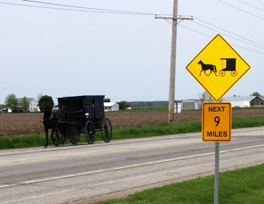 buggy sign illinois amish