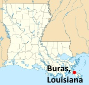 buras-louisiana-map