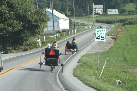 car-passing-buggies-lancaster-pennsylvania