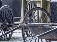 Wheels on Mennonite carriages