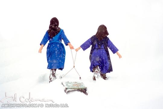 coleman-amish-girls-sledding