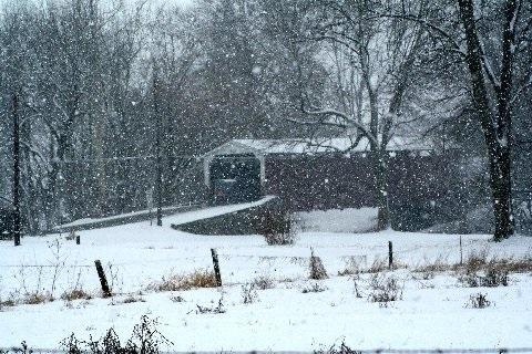 Covered Bridge Snow Fall
