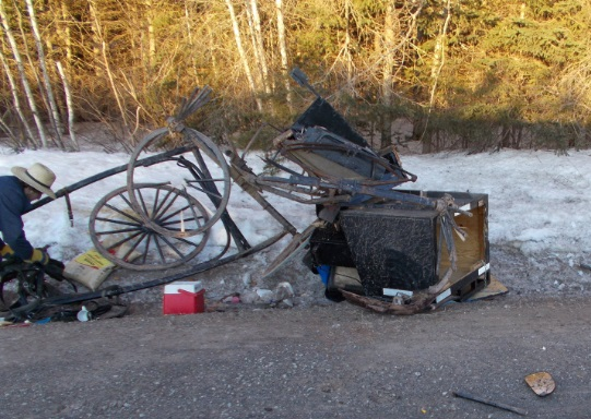 PEI Amish Buggy Annihilated; Driver Amazingly Uninjured