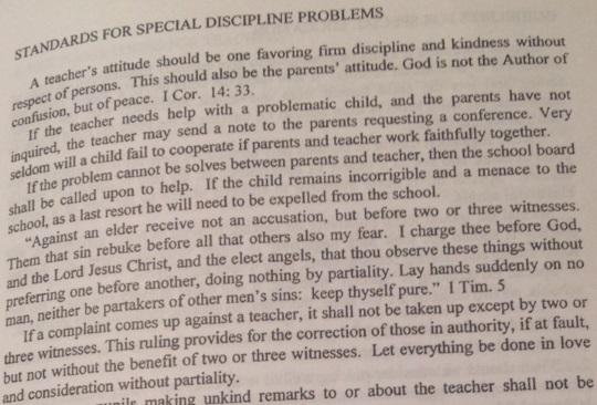 Discipline Rules