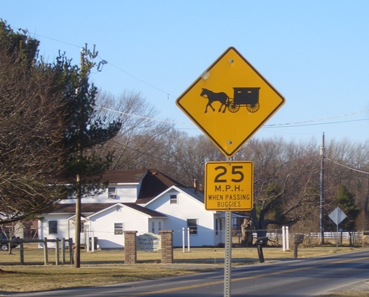 dover delaware amish buggy sign