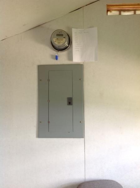 Freezer Shed Electric Meter