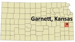 garnett-kansas-map