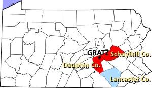 gratz-pennsylvania-map