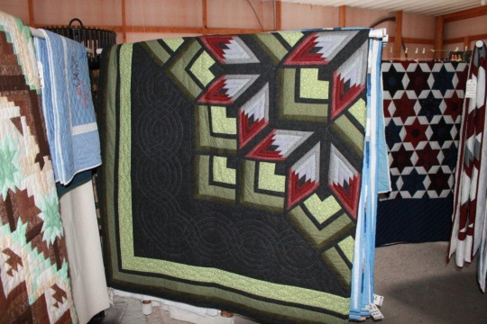 green-quilt-pattern