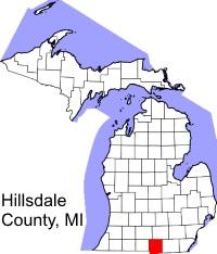 hillsdale-county-michigan-map