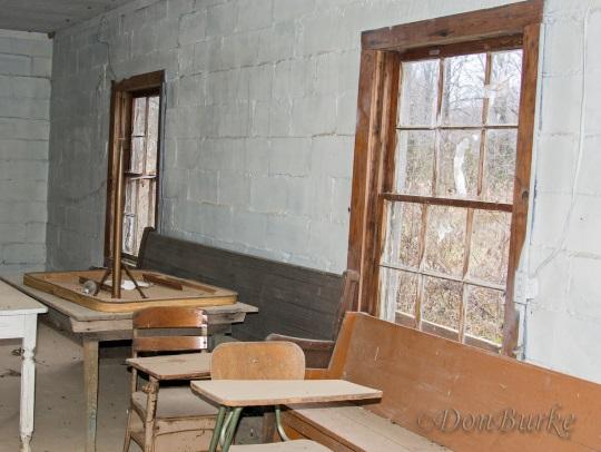 Inside Abandoned Amish School House