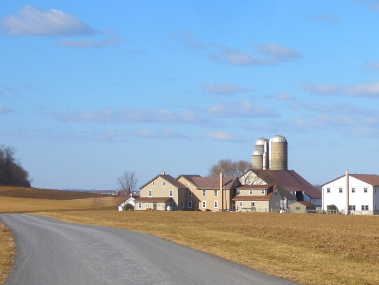 lancaster county farm brown roof