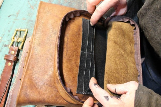 Leather Purse Built-in Wallet