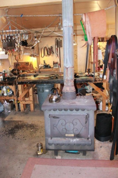Leather Shop Stove