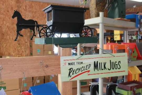 Made from recycled milk jugs