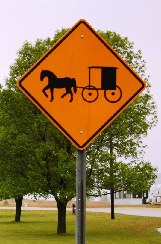 minnesota amish buggy sign