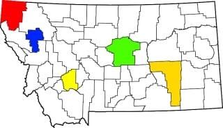 montana amish map