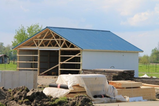 New Structure Amish East Indiana