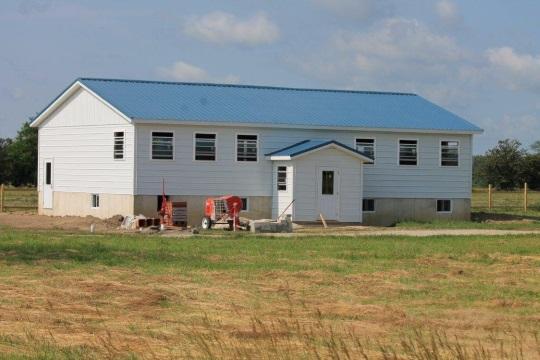 Newly-built Amish Schoolhouse