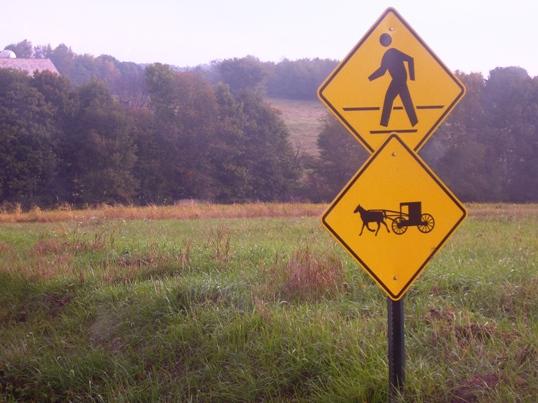 ohio amish buggy sign