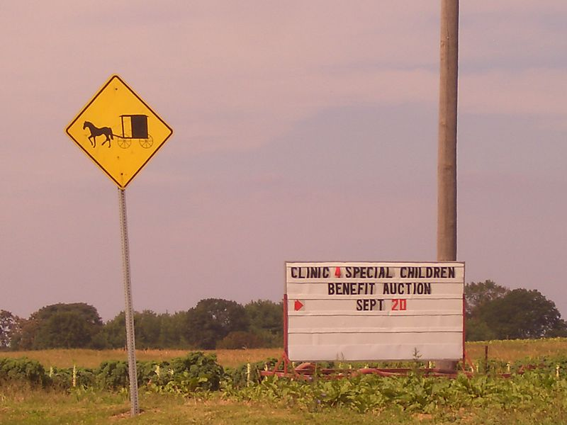 Clinic for special children Amish sign Lancaster
