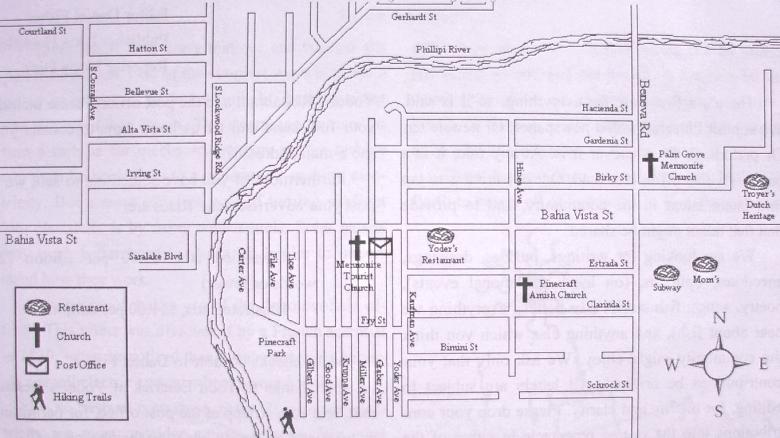 pinecraft sarasota map