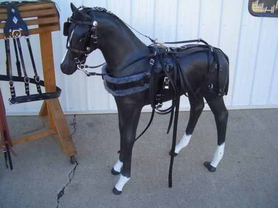 plastic horse amish harness