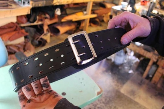 Police Officers Leather Belt