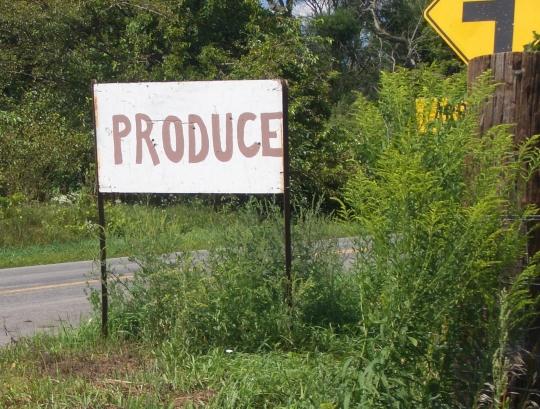 produce sign amish