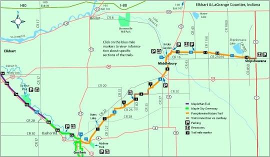 Pumpkinvine Trail Map Indiana