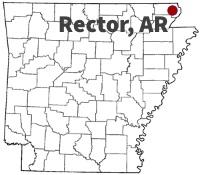 Rector Arkansas Map