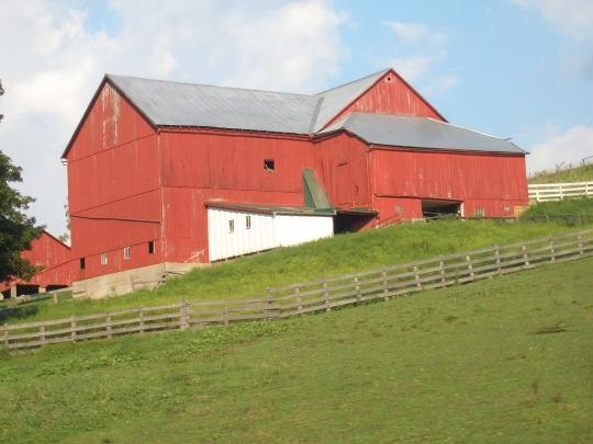 red amish barn