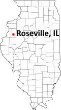 Roseville Illinois Map