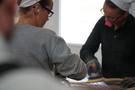 Amish Women in Furniture Making (14 Photos)
