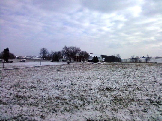 snowy field amish ohio