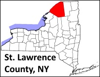 st-lawrence-county-new-york-map