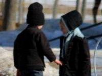 Amish children having discussion