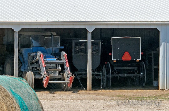 tractor-parking-amish-kansas