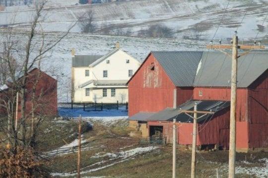 Traditional Amish Farm Home