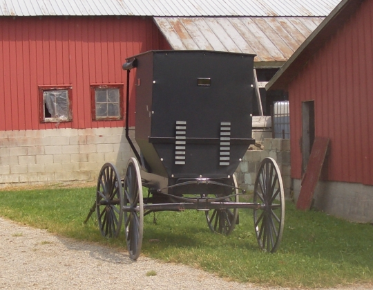 unusual amish buggy