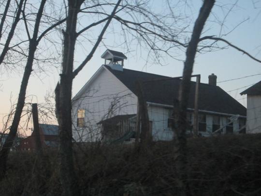 Wayne County Amish School Sunset