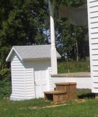 white amish outhouse