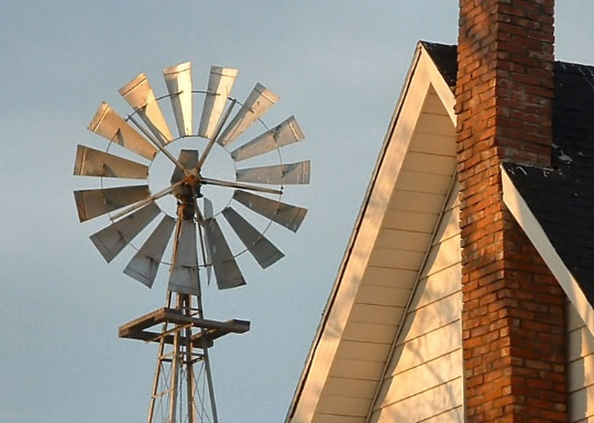Windmill Next to Amish Home