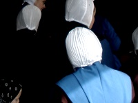 White head covering on Amish women