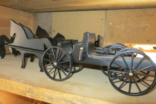 Wooden Amish-made Toy Buggy